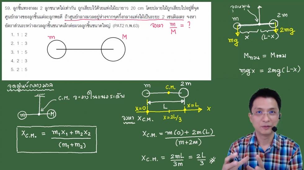 เฉลยข้อสอบ PAT2 ฟิสิกส์ ก.พ.63 ครั้งที่1