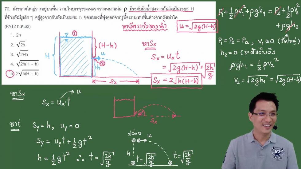 เฉลยข้อสอบ PAT2 ฟิสิกส์ ก.พ.63 ครั้งที่3