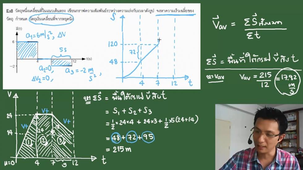 ฟิสิกส์ ม.4 บทที่2 การเคลื่อนที่แนวตรง (59) ครั้งที่ 4