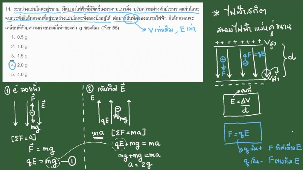 เฉลยข้อสอบฟิสิกส์ 9วิชาสามัญ55 ครั้งที่2