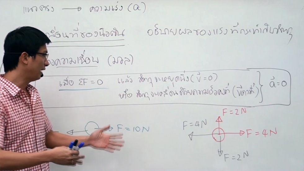 VDO ฟิสิกส์ ม.4 บทที่3 แรงและกฎการเคลื่อนที่ (ปี58) ครั้งที่ 1
